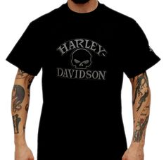 Harley-Davidson Mens Top Gun Reflective H-D Name Black Leather Belt by LODIS