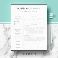 "Professional & Modern Resume Template for MS Word: ""Mariah"" Resume Cv, Resume Tips, Resume Writing, Resume Design, Resume Examples, Cv Design, Free Resume, Modern Resume Template, Cv Template"