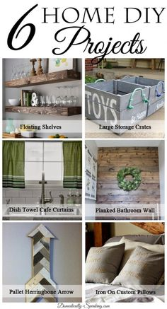 Some great Home DIY Projects you'll want to try your hand at.