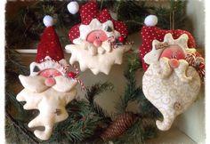 Colgantes navideños con cara de Santa