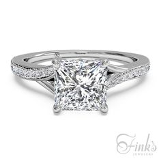 Ritani Platinum Princess Cut Engagement Ring #ItsAFinksDiamond