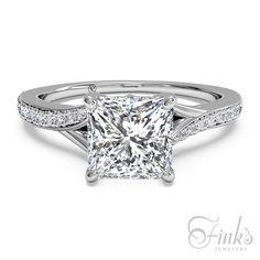 Ritani Platinum Princess Cut Engagement Ring #ItsAFinksDiamond