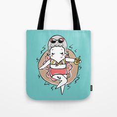Doughnut Days Tote Bag by teacupsandspectacles Teacups, Doughnut, Reusable Tote Bags, Day, Stuff To Buy