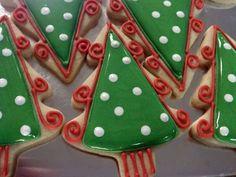 fun & funky Christmas tree cookies