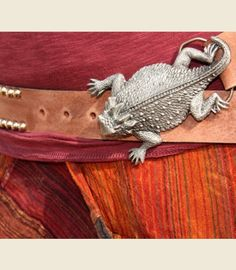 Oh snap! A horny toad belt buckle. Makes me want to wear a belt.