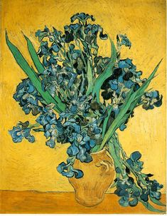 Van Gough - I love the use of yellow.  Irises are my favourite plant. I may be biased as my grandmother's name was Iris. Beautiful name, flower and painting,