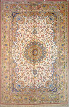 Kaveh Silk Persian Rug You pay: $7,900.00 Retail Price: $13,900.00 You Save: 43% ($6,000.00) Item#: PA-33 Category: Small(3x5-5x8) Persian Rugs Design: Center Medallion Floral Size: 130 x 200 (cm)      4' 3 x 6' 6 (ft) Origin: Persian, Qum (Qom) Foundation: Silk Material: Silk Weave: 100% Hand Woven Age: Brand New KPSI: 700