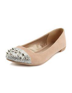 WANT: Spiked-Toe Velvet Flat: Charlotte Russe