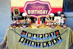Hollywood BIRTHDAY - Movie Party - MOVIE BANNER