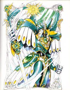 Character Illustration, Illustration Art, Manga Art, Anime Art, Green Knight, Magic Knight Rayearth, Xxxholic, Card Captor, Knight Art