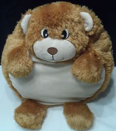 """$18.49/ Plush Brown Bear Pillow stuffed Animal by Pudgy Wudgy Pillows measures 14"""" ~kids youth children home decor www.stores.ebay.com/Shellys-Sweet-Finds"""