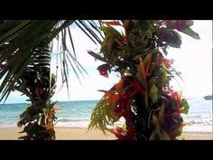Wedding Arch at Kulu Bay Resort. Fiji wedding. Beach wedding.