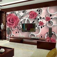 Amazing Patterns Wallpapers Design For Living Room Canada 3d Wallpaper Designs For Walls, Wallpaper For Home Wall, Wallpaper Decor, Pattern Wallpaper, Mobile Wallpaper, Foto 3d, Tv Wall Design, Ceiling Design, Bed Design