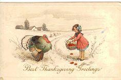Best Thanksgiving Greetings.. Vintage Thanksgiving Postcard | Flickr - Photo Sharing!