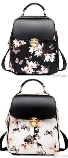 Fresh Girl Butterfly Flower School Bag Casual Backpack only  33.99 7259a453ef67a