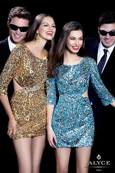 Short sequin dress with sleeves and bare back! #prom #partydress