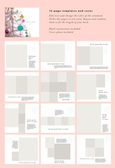 Blurb PhotoBook Christmas edition by Meisi for Bloggers on @creativemarket