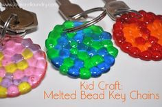 MELTED PONY BEAD KEY CHAIN