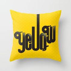 YELLOW+Throw+Pillow+by+Sibriega+-+$20.00