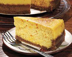 Mango Saffron and Cardamom Cheesecake