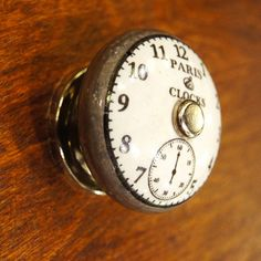 Paris clock knob by The Door Store