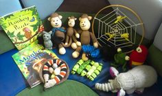 Monkey puzzle storysack completed!