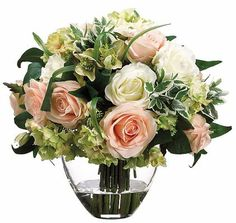 Love roses? So do we, but they're awfully tough to grow in your garden.  This #havertys Rose/Hydrangea Floral will make people think you picked the arrangement straight from your flower beds!