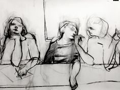 Study after Baldessin's 'Banquet' 1968 - Paul W. Ruiz