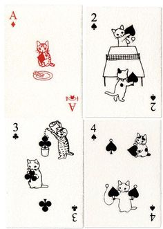 Katzen Spielkarten I love these! I would love having this deck of cards XD I Love Cats, Crazy Cats, Art Carte, Illustrations, Illustration Art, Japanese Embroidery, Embroidery Ideas, Cat Cards, Cat Lovers