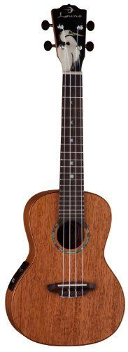 Luna UKE S ORC Ukulele with Gig Bag by Luna. $299.95. Luna is proud to present our first offerings in an all solid series of Ukuleles. The full concert -Inch Orchid-Inch  crafted of solid koa, features an elegant abalone and mother of pearl inlaid orchid against an ebony headtsock. The full concert -Inch Egret-Inch  crafted of solid mahogany features a stunning mother of pearl inlaid egret on the ebony headstock. Both also feature Luna's signature moon phase fret ...