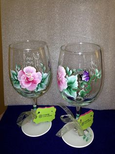 Wine Glasses hand painted on Etsy, $40.00