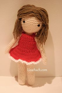 this is the matching Red Dress to fit the Basic Crochet Amigurumi Doll.