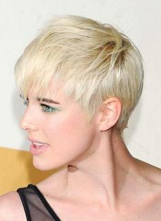 Blonde Pixie Cut for Thin Hair