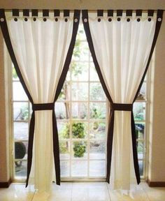 There are several factors that you need to consider to choose the best curtain designs. 3 Window Curtains, Home Curtains, Curtains With Blinds, Curtain Styles, Curtain Designs, Curtain Ideas, Rideaux Design, Colorful Curtains, Window Coverings