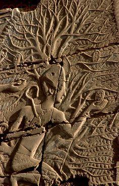 Relief Sculpture of Pharaoh in Karnak Temple, Egypt