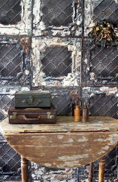 Wallpaper Wednesday: Brooklyn Tin Tiles from Rockett St. George - Love Chic Living