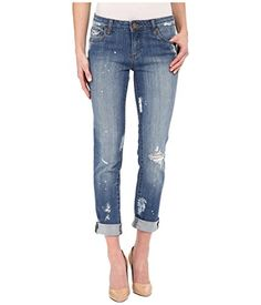 Kut from the Kloth Catherine PaintSplatter Boyfriend Jeans 8 X 305 ReverenceMedium Base Wash >>> Check this awesome product by going to the link at the image.  This link participates in Amazon Service LLC Associates Program, a program designed to let participant earn advertising fees by advertising and linking to Amazon.com.