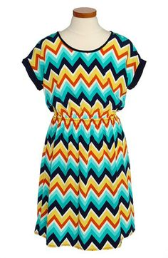 Soprano Chevron Print Dress (Big Girls) available at #Nordstrom