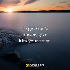 Without God's power in your life, you're just running on your own energy. And God never meant for you to do that. #DailyHope
