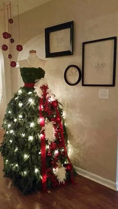 Dressmakers mannequin Christmas tree
