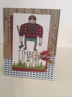 Valentine card. Stampin up's Wood you be mine.