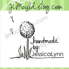 Handmade By or Wedding Save the Date with Flowers by JLMould, $19.95