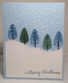 Trendy Trees Christmas Card