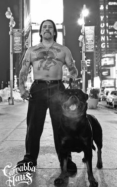 Danny Trejo and his beast of a dog!