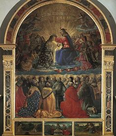 Domenico Ghirlandaio: Incoronazione della Vergine (Pala di Narni), 1486 circa, Museo Civico, Palazzo Eroli, Narni - Umbria