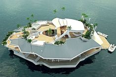 I'll totally buy one... one day, when I have $4 600 000 - Your Very Own Floating Island - Design You Trust