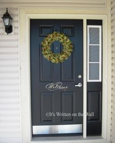 WELCOME For home or Front Door  Vinyl by ItsWrittenOnTheWall