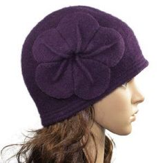 5e2ad8936df Vintage Large Flower Wool Cloche Bucket Hat – Various Color
