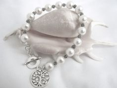 Tree Of Life Pearl & Sterling Silver Bracelet for by JuJuBeader, $60.00