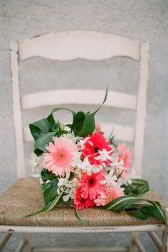 Pink flowers for a wedding at Palmetto Dunes in Hilton Head.